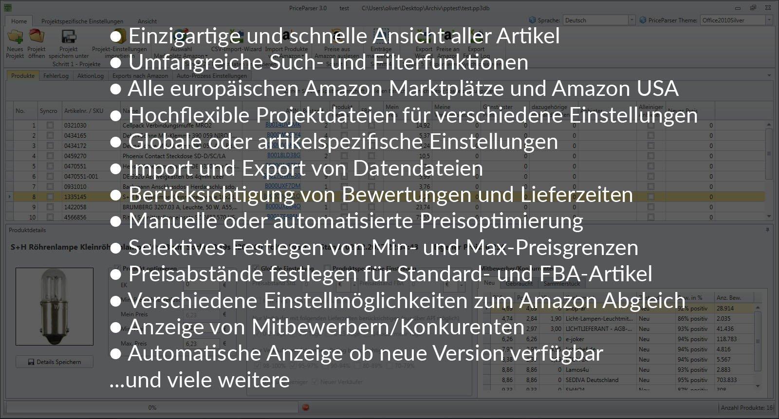 Die Funktionsbeschreibung unserer Amazon Preispotimierung